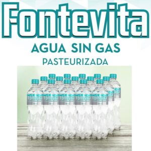 AGUA DE MESA FONTEVITA 600ML SIN GAS PQT X 15 UND – 27224